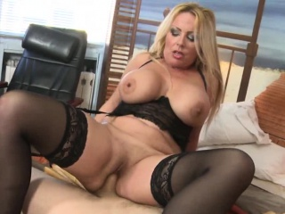 Ivka Is A Hot Blonde Granny With Huge Tits And A Big Dick