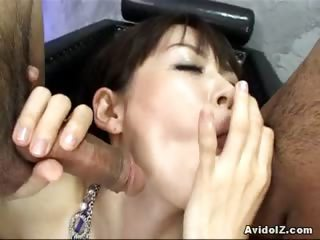Porn Tube of Hot Asian Princess Makes Do With Group Sex Bukkake