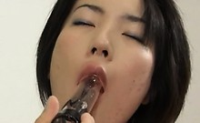 Deep anal sex with hairy japanese beauty
