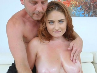 Nice Honey Gets Her Hairy Pussy Fucked And Big Tits Sprayed