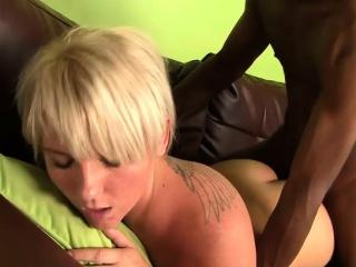 Hot Whore Gets A Big Black Cock