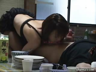 Porn Tube of Sexy Mira Sugihara Kitchen Blowjob