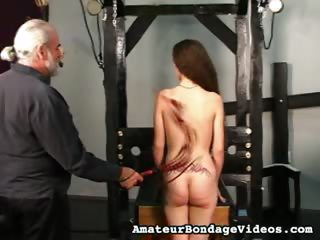 Porno Video of Bound And Splayed