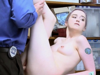 Lexi Lore Opened Her Legs Wide Open To Take The Officer's Cock
