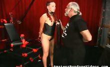 Teenage chick loves BDSM