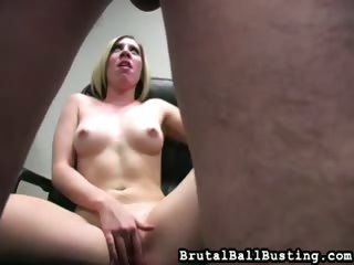 Porno Video of Office Facesitting And Ballbusting