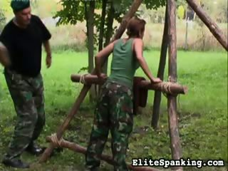 Porn Tube of Outside Caning