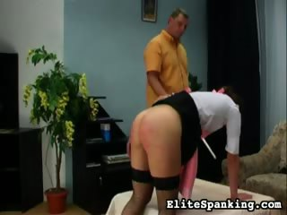 Porn Tube of Caning The Maid