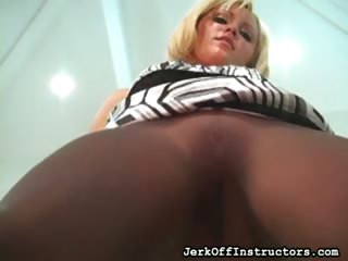 Porn Tube of Nylon Crotch Tightly Pulled
