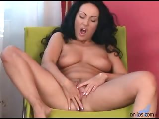 Porno Video of Glamourous Anilos Cougar Laura Flaunts Her Big Tits And Fingers Her Tight Cunt