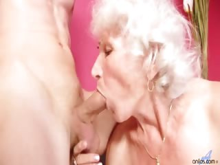Porn Tube of Classy Granny Betty Give This Young Thick Cock Of A Stud Best Blowjob Of His Life Then Fucks Him Hard