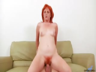 Porno Video of Redhead Sasha Brand Gets Her Hairy Anilos Pussy Fucked Up On The Kitchen Table