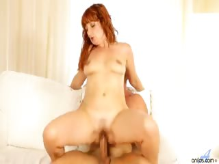 Porno Video of Kinky Mature Redhead Tugs On A Young Studs Cock With Her Soft Oil-slicked Feet And Gets His Thick Shaft Stuffed In Her Hairy Cunt