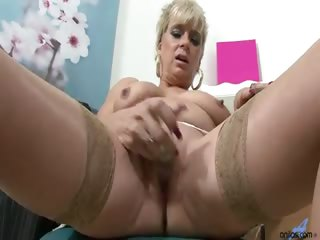 Porn Tube of Dimonte With Her Sexy Thick British Accent Talks With Clients As She Works Herself Up, You Can Hear The Pussy Juice As She Vigorously Masturbates.