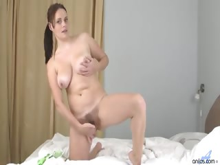Porn Tube of Amateur Mom Next Door Plays With Her Naturally Big Boobs And Furry Pussy Before A Self-induced Orgasm With Her Fingers