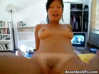Porno Video of Asian Girl Takes Hard Cock And Rides