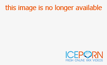 Hot Japanese redhead fucked doggy style in threesome