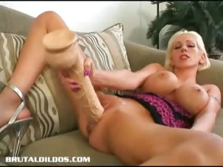 Porno Video of Monster Brutal Dildo Fucking