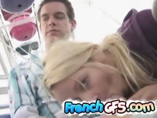 Porno Video of Horny Stud Enjoying A Public Blowjob On The Fun Ride