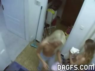 Porn Tube of Sightly Lesbians Bitches Stripping Before Sex Action