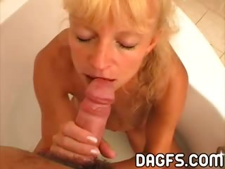 Porno Video of Thin And Blonde Mom Loves To Suck Cocks Before Breakfast