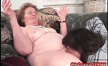 Slutty Dirty Granny Gets Wet