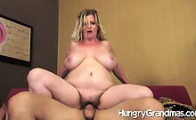 Large Mature Divorcee Fucks New Guy