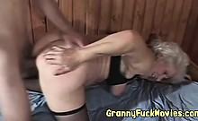 Real Horny Granny Fucks Younger Dude