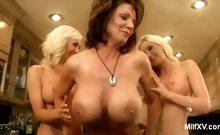 Demi Delia's Lesbian MILF Party