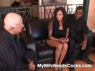 Porn Tube of Ebony Wife Rides Cowgirl