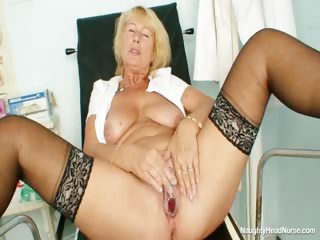 Porno Video of Blonde Milf Greta Big Natural Tits And Uniform