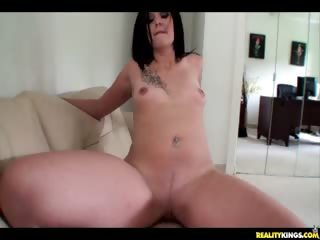 Porn Tube of Nakiah Rides That Dick For Some Cash.