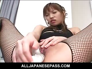 Porno Video of Horny Japanese Av Model Strips Out Of Her Slutty Outfit To Toy Her Pussy