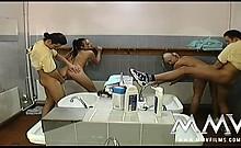 Studs pounding two very sexy German schoolgirls