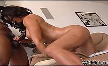 This amazing latina milf loves to fuck black dick