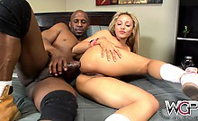 Stunning Tinslee Reagan takes it deep black up her ass and