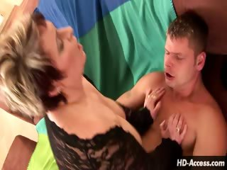 Porn Tube of Busty Hot Mama Fucks From The Top