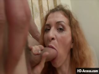 Porno Video of Elegant Milf Gives Rough And Ready Blowjob