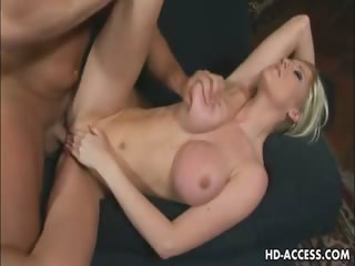 Porno Video of Blonde Babe Michelle B Big Tit Job And Fuck!