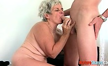 horny granny gets a taste of fresh cock