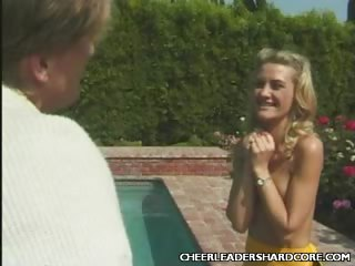 Porno Video of Cheerleader Ashley Poolside Sex