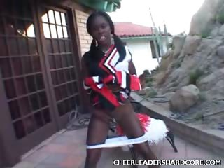 Porno Video of Ebony Cheerleader Pussy Tease