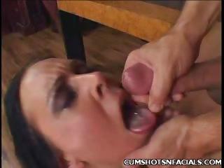 Porn Tube of Julie Teen Cum Facial
