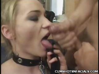 Porn Tube of Blonde Massive Cum Facial