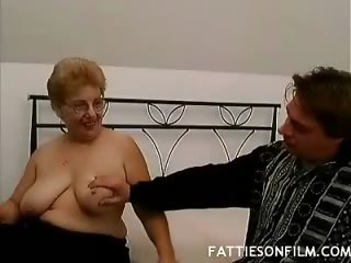 Porno Video of Chubby Mature Guzzles Dick