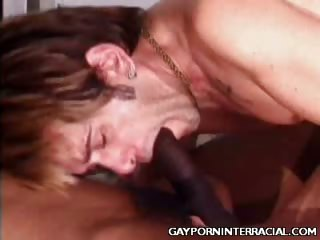 Porno Video of Naughty Gays Interracial Hook Up