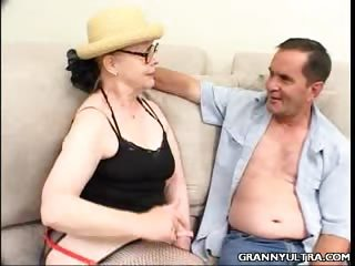 Porn Tube of Gangbanged Hot Granny