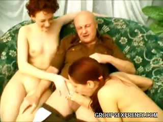 Porno Video of Sexy Redheads Group Bang