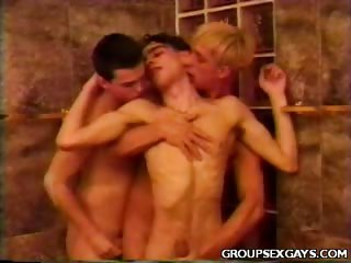 Porno Video of Cute Twinks Hot Threesome Sex