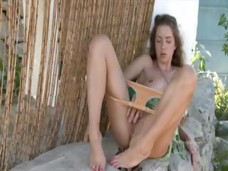 Porn Tube of Mika Massaging Her Clit